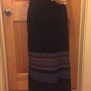 Michele fringed long skirt